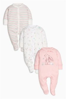 Character Sleepsuits Three Pack (0mths-2yrs)