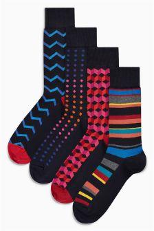 Geo Socks Four Pack
