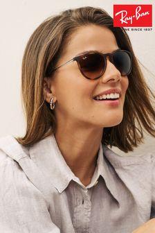 Szylkretowe matowe okulary przeciwsłoneczne Ray-Ban® Erika