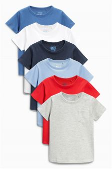Short Sleeve Essential Tops Six Pack (3mths-6yrs)