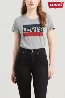 Levi's® Grey The Perfect Logo Sport T-Shirt