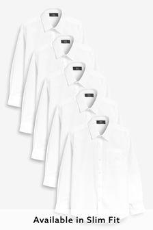Long Sleeve Shirts Five Pack (3-16yrs)