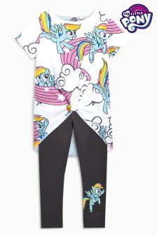 My Little Pony Knot Front Short Sleeve T-Shirt And Legging Set (3-16yrs)