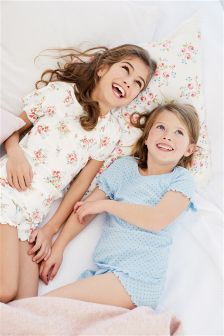 Floral/Spot Short Pyjamas Two Pack (3-16yrs)