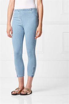Cropped Denim Leggings