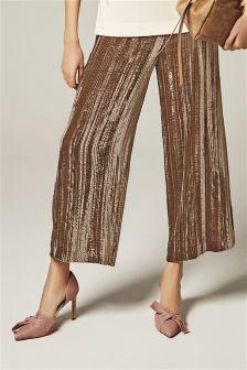 Velvet Culotte Trousers