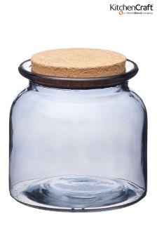 KitchenCraft Natural Elements Medium Smokey Glass Jar