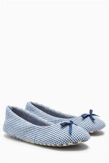 Gingham Slippers
