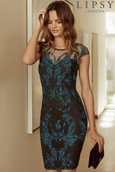 Облегающее платье с вышивкой Lipsy
