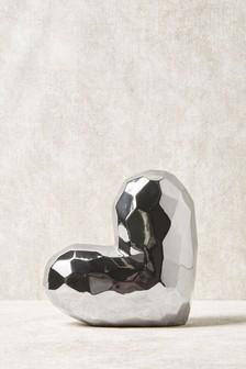Faceted Heart Sculpture