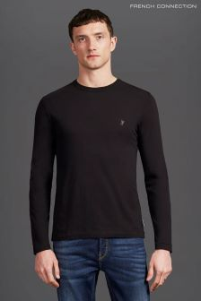 French Connection Black Long Sleeve Classic Crew