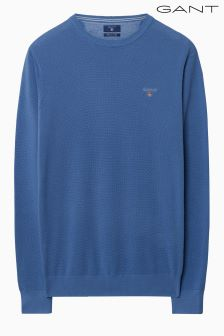 Gant Blue Cotton Pique Crew