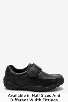 Narrow Fit Sporty Single Strap Leather Shoes (Older Boys)