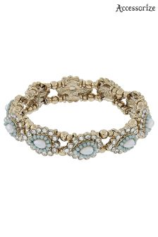 Accessorize Green Eloise Stretch Bracelet