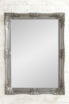 Charlotte Pewter Over Mantle Mirror