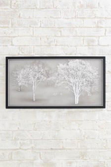Collection Luxe Etched Landscape On Framed Glass