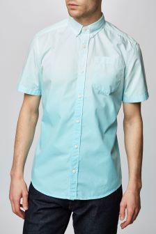 Short Sleeve Dip Dyed Shirt