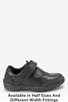Narrow Fit Sporty Double Strap Leather Shoes (Older Boys)