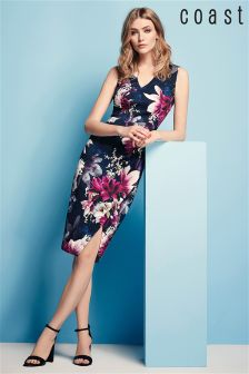 Coast Navy Penelope Print Scuba Dress