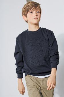 浮花圆领衫 (3-16岁)