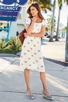 فستان Bardot مطبوع
