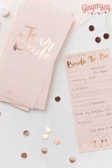 10 Pack Ginger Ray Bridal Advice Cards