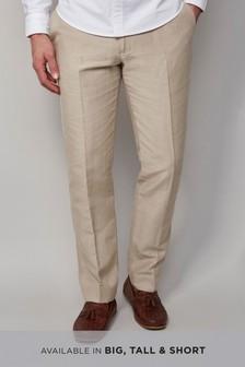 Фирменные брюки из хлопка и ирландского льна