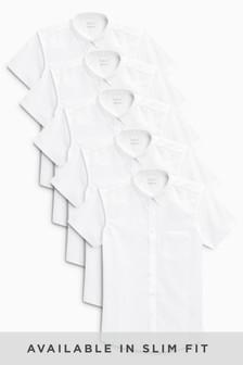 Short Sleeve Shirts Five Pack (3-16yrs)