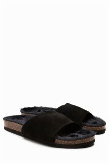Premium Suede Slider Slippers