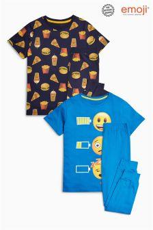 Emoji Pyjamas Two Pack (3-14yrs)