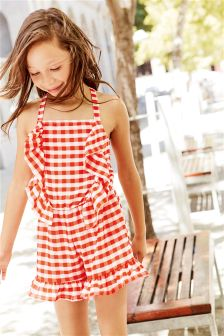 Gingham Playsuit (3-16yrs)