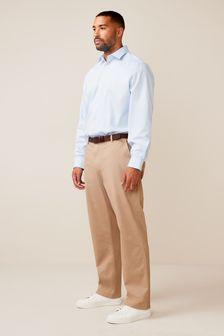 Рубашка классического кроя из практичной ткани