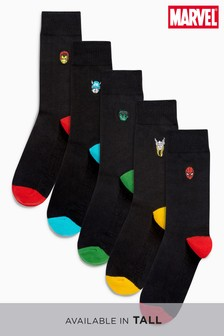 Marvel® Embroidered Character Socks Five Pack