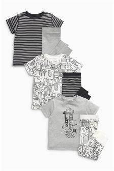 Animal All Over Print Short Sleeve Pyjamas Three Pack (9mths-8yrs)