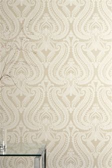 Scroll Damask Wallpaper