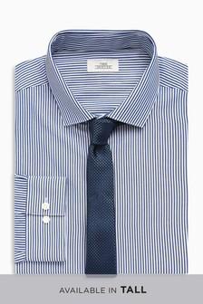 Komplet: koszula o klasycznym kroju i krawat