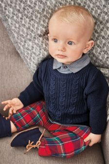 Mock Shirt Jumper (0mths-2yrs)