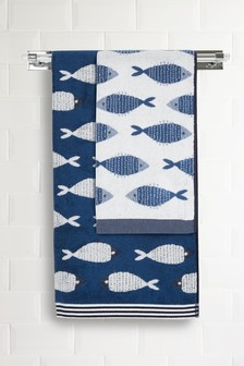 Blue Fish Towel