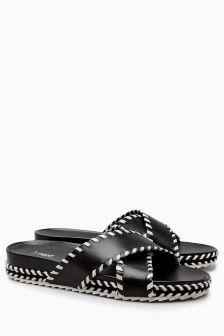 Leather Sliders