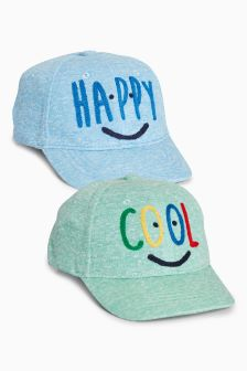 Slogan Caps Two Pack (Younger Boys)