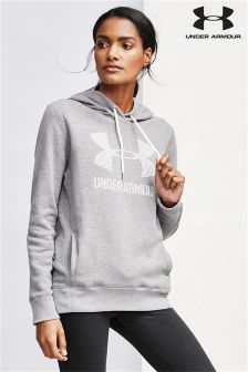 Under Armour Grey Favourite Fleece Sportstyle Hoody