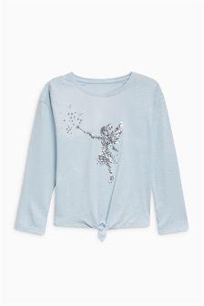 Sequin Fairy Tie Front Top (3-16yrs)