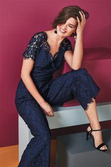 Lace Culotte Jumpsuit