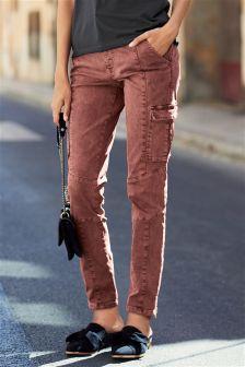 Utility Pocket Skinny Jeans