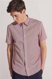 Short Sleeve Double Collar Shirt