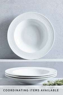 Set Of 4 Collection Luxe Casual Pasta Bowls