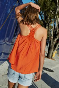 Crochet Back Vest Top