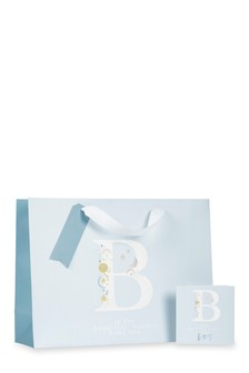 Baby Boy Monogram Bag, Card And Tissue Set