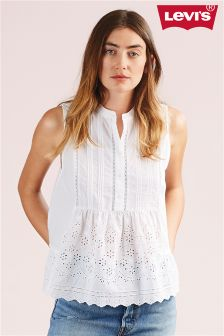Levi's® Cornet White Embroidery Stevie Top