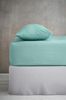 Cotton Rich Plain Dye Deep Fitted Sheet